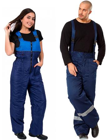 Утепленные брюки и полукомбинезоны